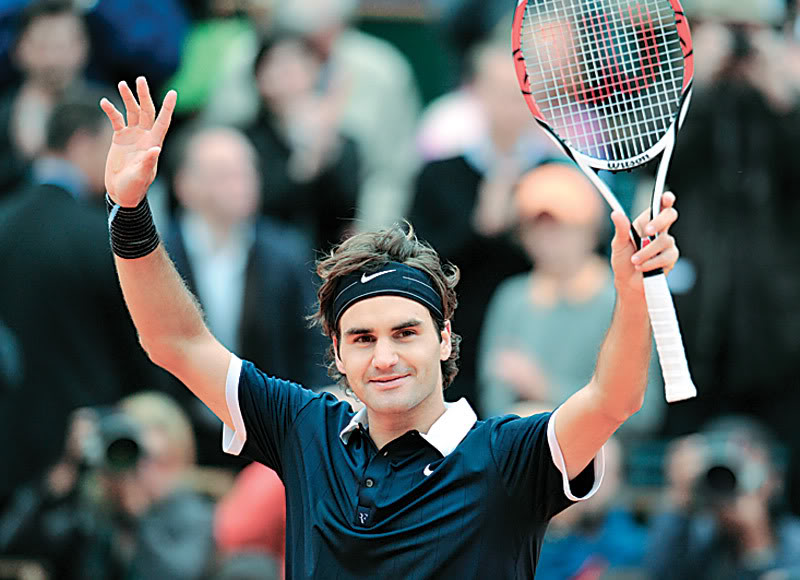 roger federer6 Roger Federer No. 2 ATP Tennis Player