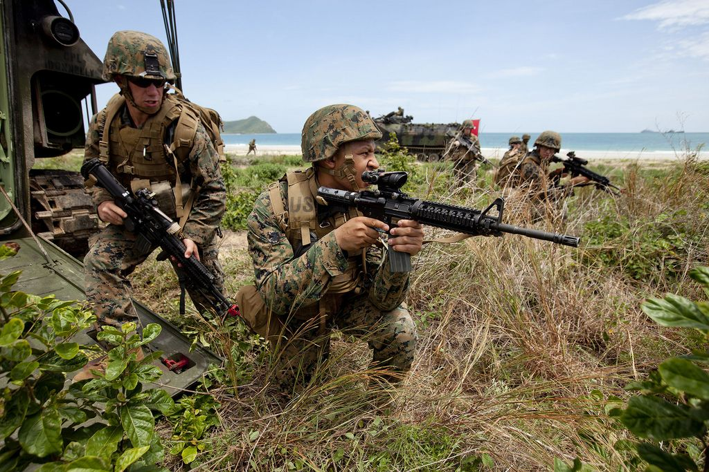 assault training Best Shots of Marines Conduct Amphibious Assault Training