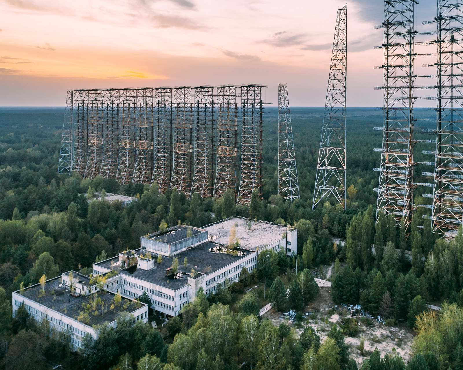 duga Duga known as the Russian Woodpecker   Military Radar Station in Chernobyls Irradiated Forest