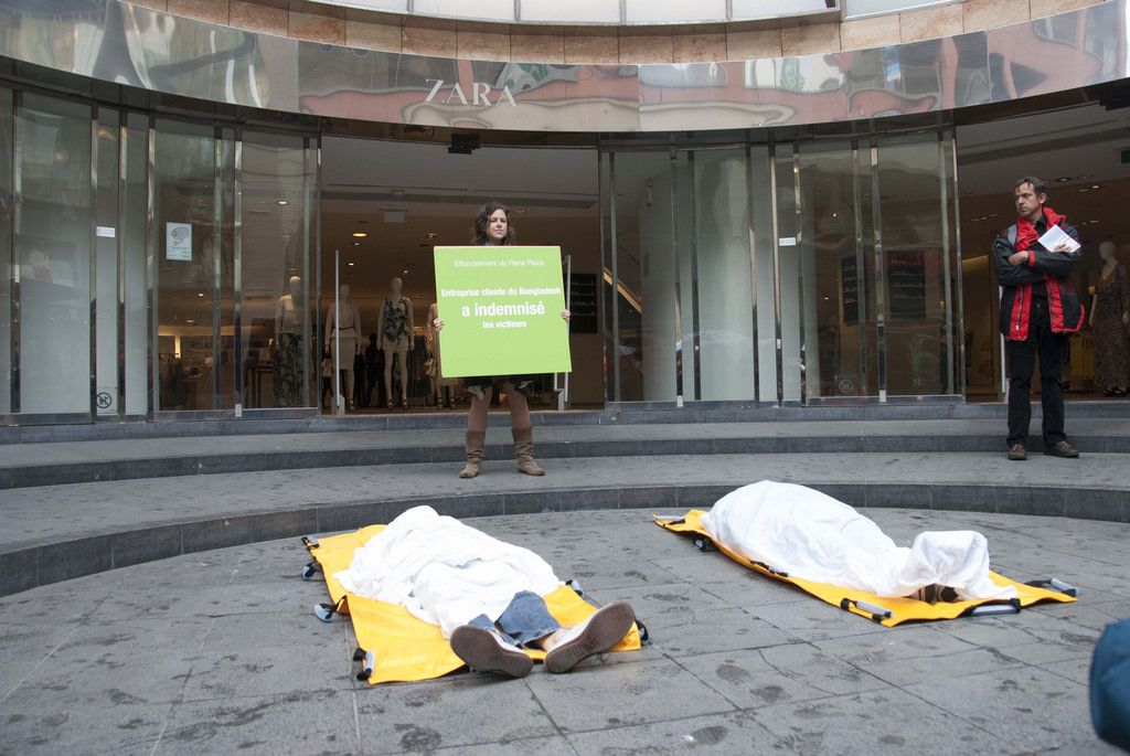 rana plaza5 Rana Plaza Disaster   Protest after One Year in Brussels