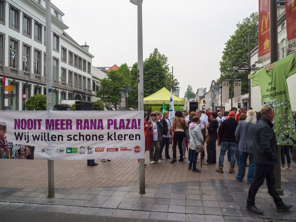 rana plaza8 Rana Plaza Disaster   Protest after One Year in Brussels
