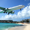 Planes Landing over Maho Bay Beach