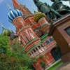 Colorful Saint Basils Cathedral in Moscow, Russia
