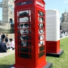 Red telephone Boxes aka Street Art