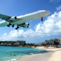 Planes Landing over Maho Bay Bea...
