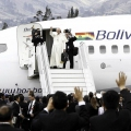 Pope Francis leaving Ecuador