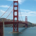 Elegant Golden Gate Bridge in Sa...