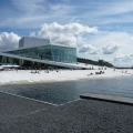 The Norwegian Opera House in Osl...