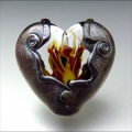 Handmade Lampwork Hearts by Step...
