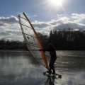 Yachting on a Lake with Ice Boat...