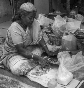 Daily Life of People in India – Black and White