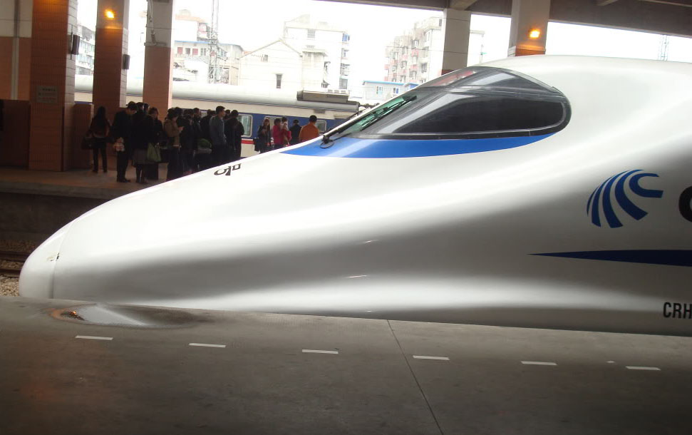 high speed trains5 The Wuhan–Guangzhou High Speed Railway in China ( 350 km/h )