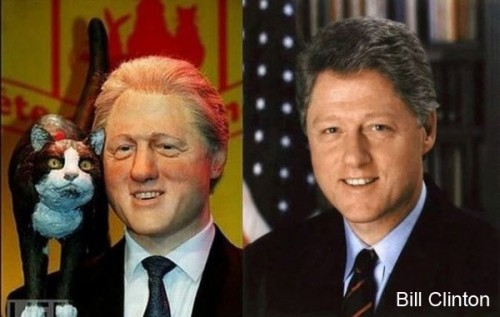 bill clinton wax1 500x317 Celebrity Wax Figures Fail