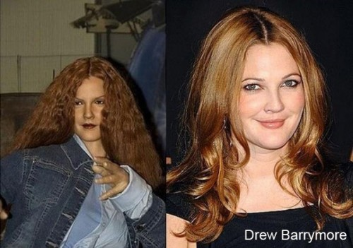 drew barrymore wax 500x351 Celebrity Wax Figures Fail