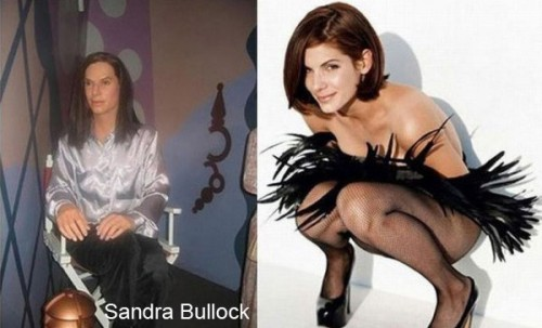sandra bullock wax 500x303 Celebrity Wax Figures Fail