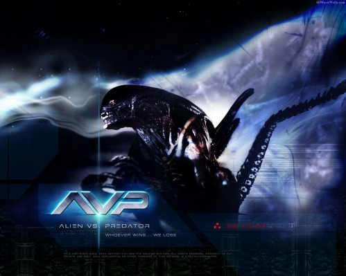 alien vs predator movie wallpaper 499x399 Alien VS Predator Movie Wallpaper