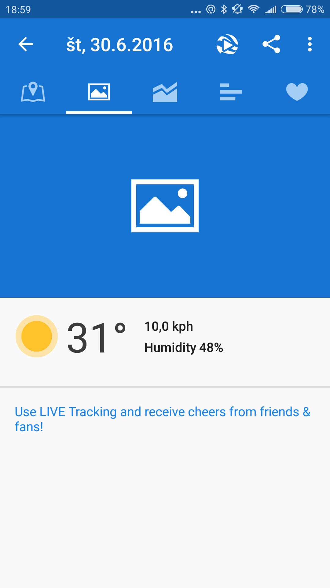 runtastic workout details weather