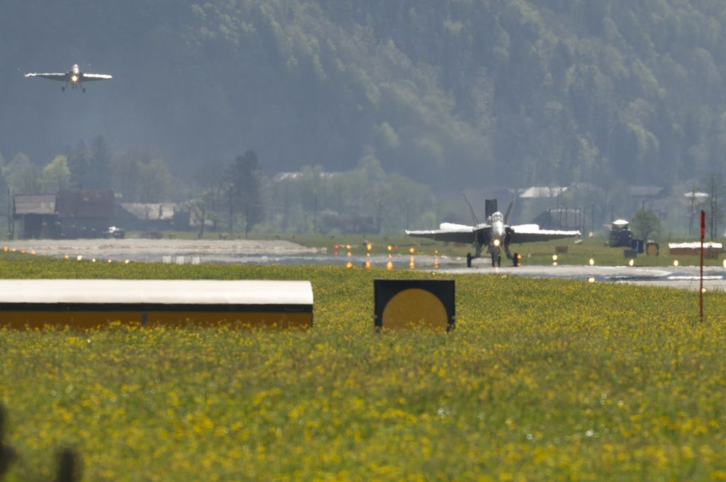 airforce base10 The Swiss Airforce from Meiringen Airbase Securing World Economic Forum 2013