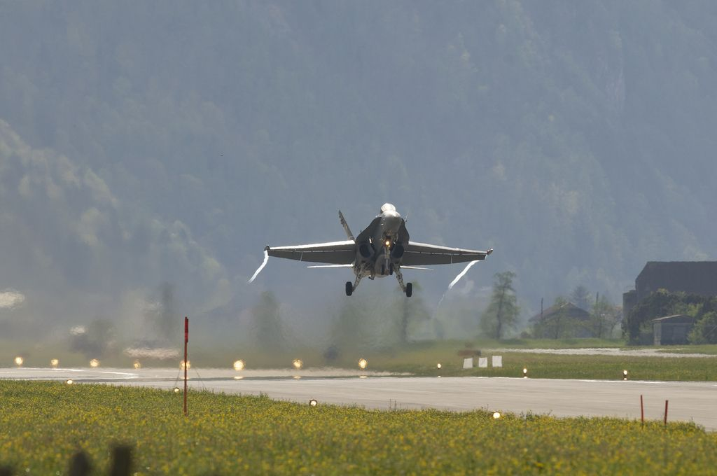 airforce base11 The Swiss Airforce from Meiringen Airbase Securing World Economic Forum 2013