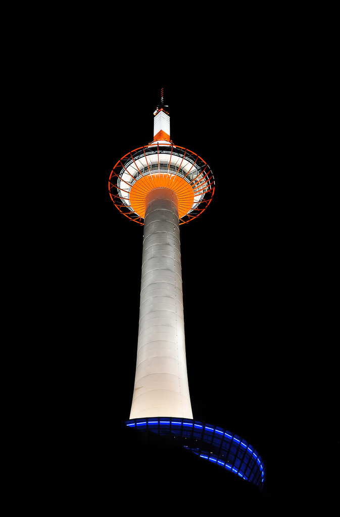 kyoto tower1 Kyoto Tower by Night