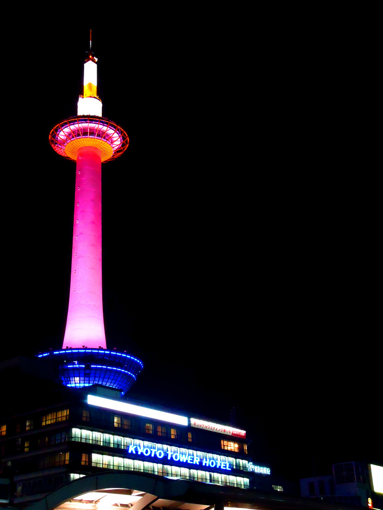 kyoto tower5 Kyoto Tower by Night