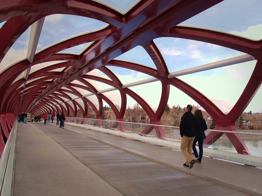 peace bridge Peace Bridge by Santiago Calatrava, Calgary