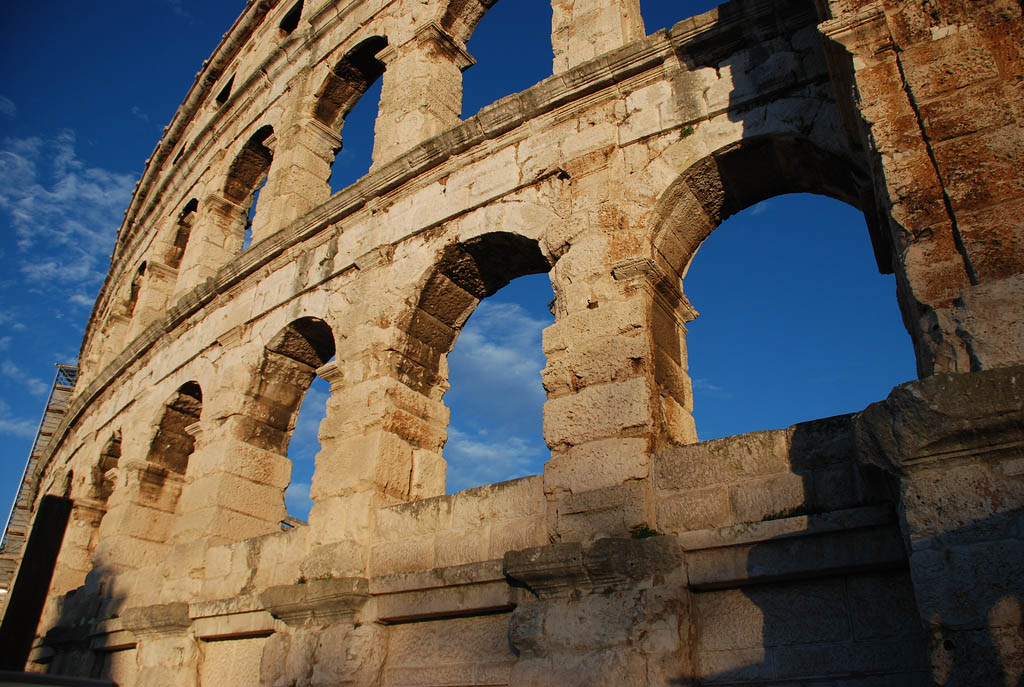 croatia pula Roman Arena in Pula, Croatia