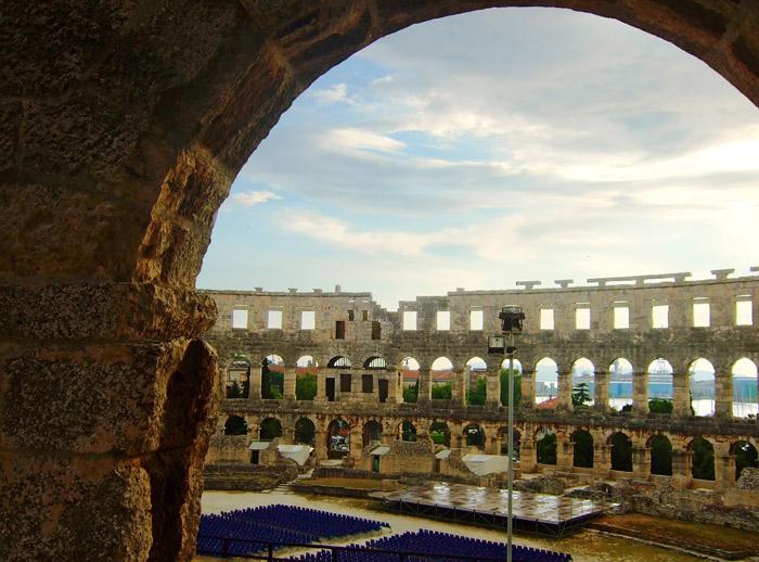 croatia pula3 Roman Arena in Pula, Croatia