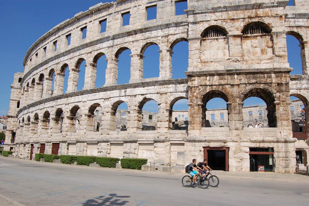 croatia pula4 Roman Arena in Pula, Croatia