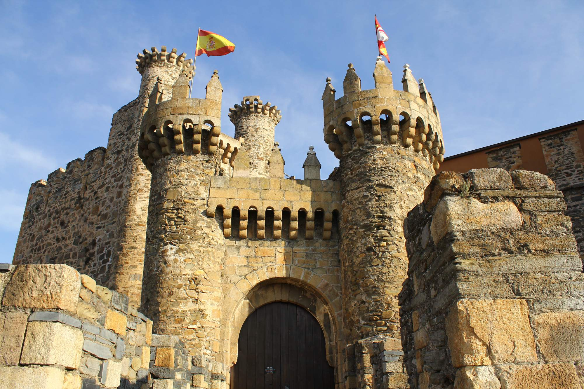 castle ponferrada3 Templar Castle of Ponferrada, Spain