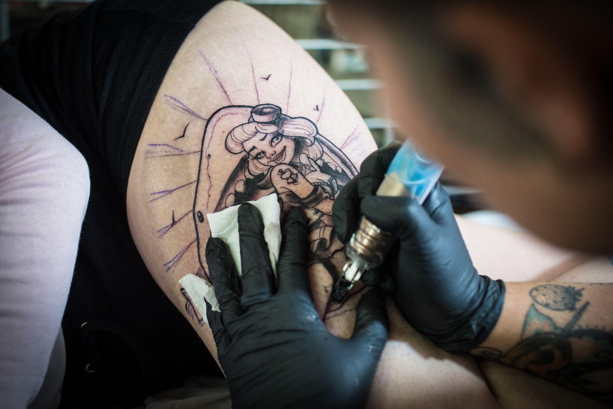 all saints tattoo6 All Saints Tattoo Show in Church