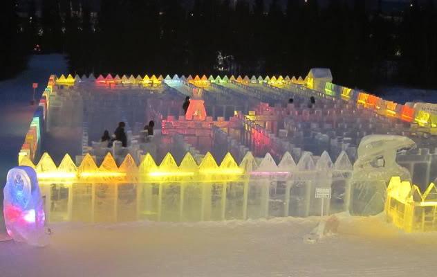art on ice6 Beautiful Colored Ice Sculptures in Alaska