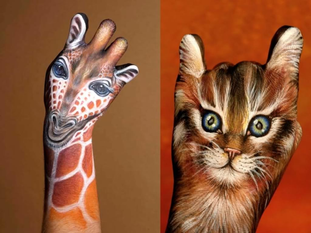 bodypainting6 Best Animal Hands Bodypainting