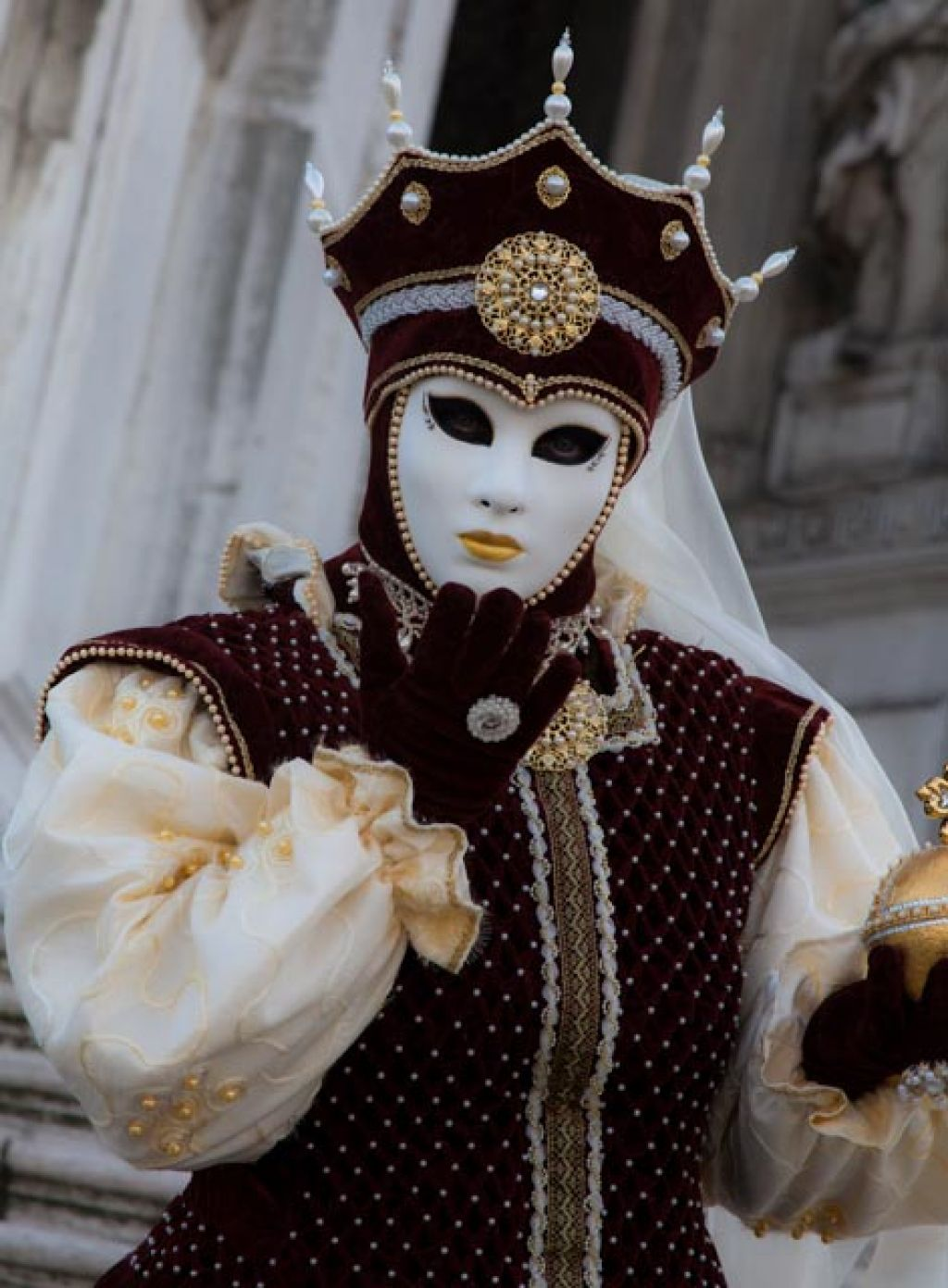 venice carnival Carnival Costumes at Santa Maria della Salute