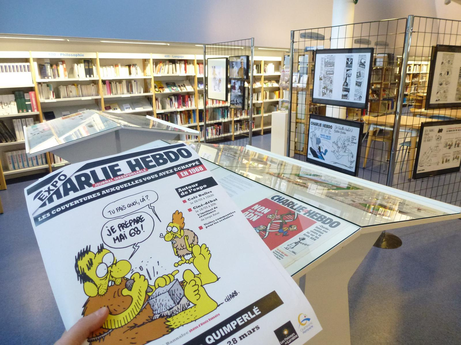 charlie hebdo exhibit Exhibition Charlie Hebdo at Quimperle