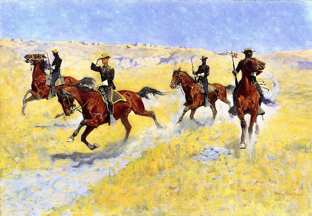 frederic remington1 Frederic Remington Paintings in Virtual Art Gallery ErgsArt
