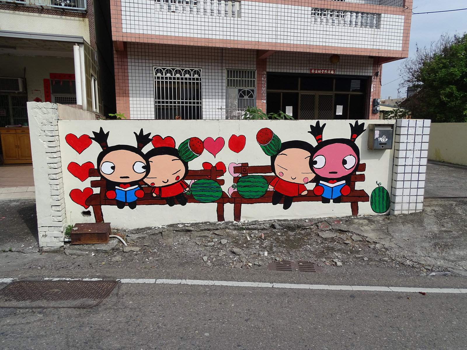 painted village2 Painted Fubao Village in Changhua