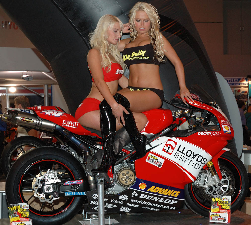 ducati monster9 Ducati Monsters vs Hot Bikini Models