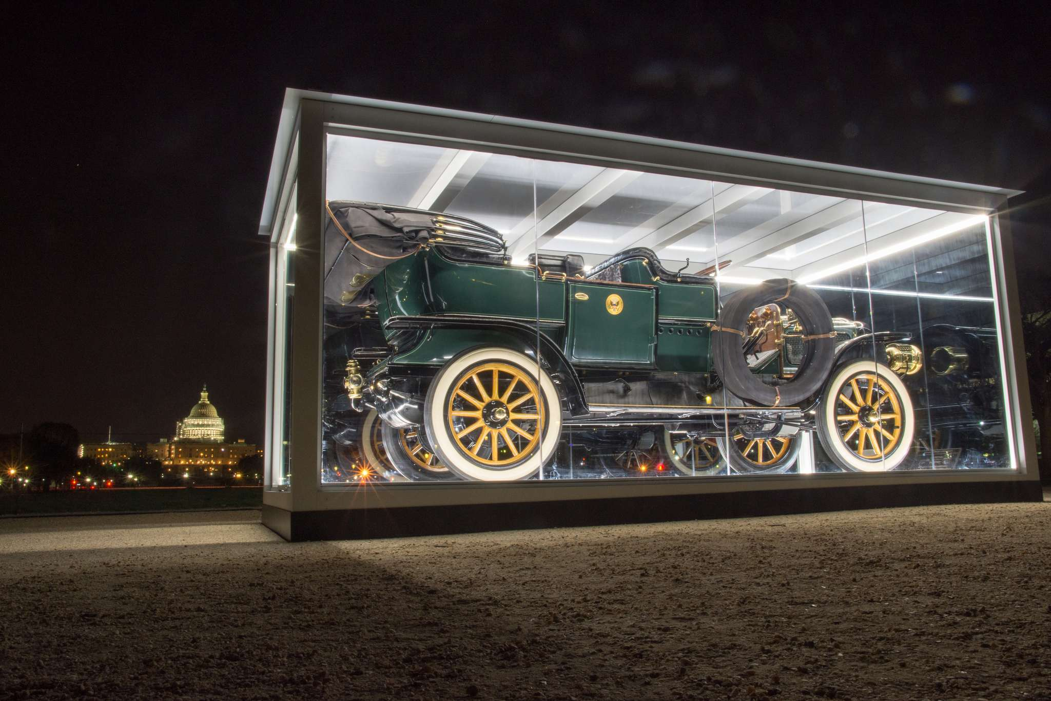 taft steam car Exhibition of Presidential Taft Steam Car at the National Mall