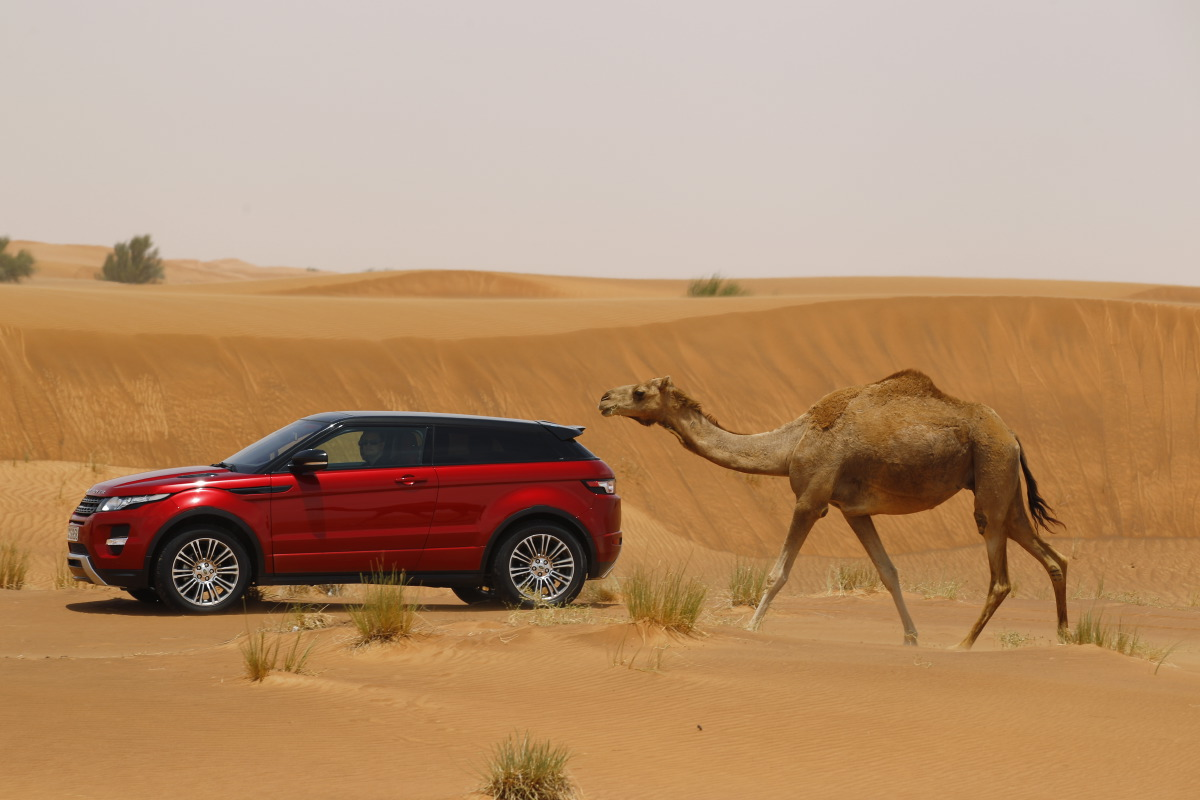 range rover evoque Welcome to Desert with Range Rover Evoque