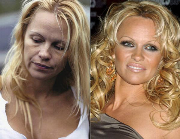 celebrities without makeup Celebrities With and Without MakeUp