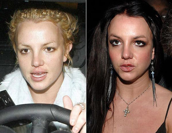 celebrities without makeup3 Celebrities With and Without MakeUp