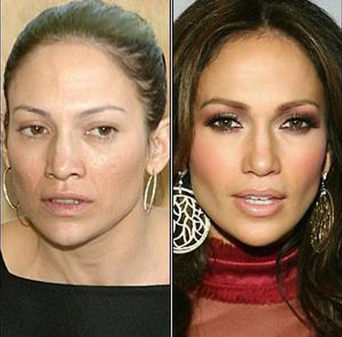 celebrities without makeup8 Celebrities With and Without MakeUp