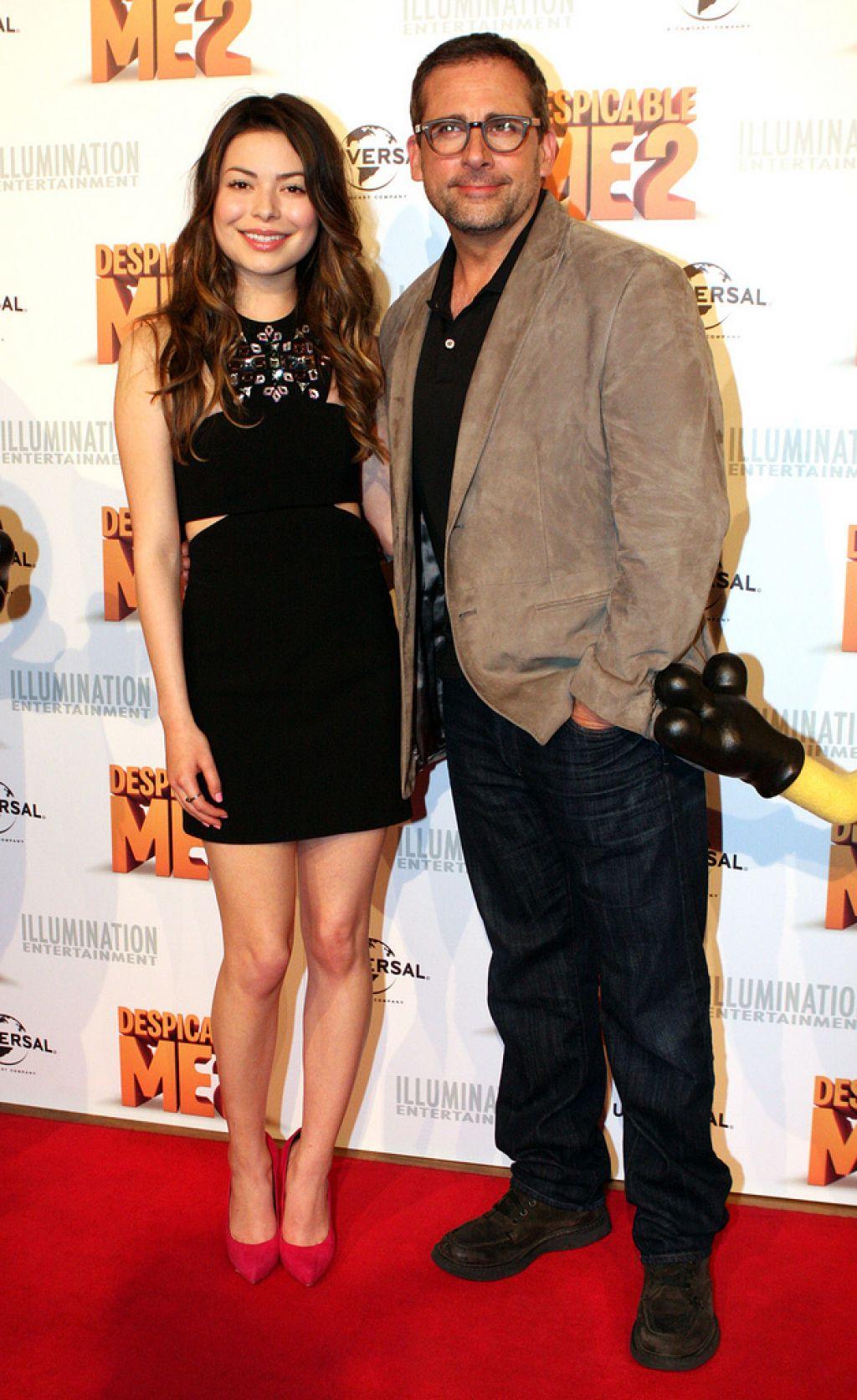 despicable me1 Miranda Cosgrove and Steve Carell at Despicable Me 2 Australian Premiere