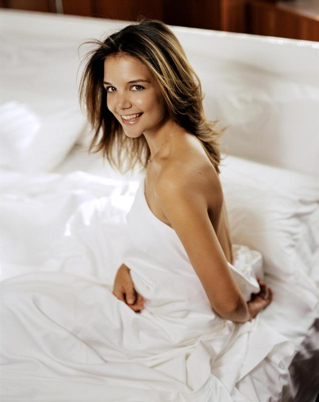 katie holmes in bed Sweet Katie Holmes in the Bed