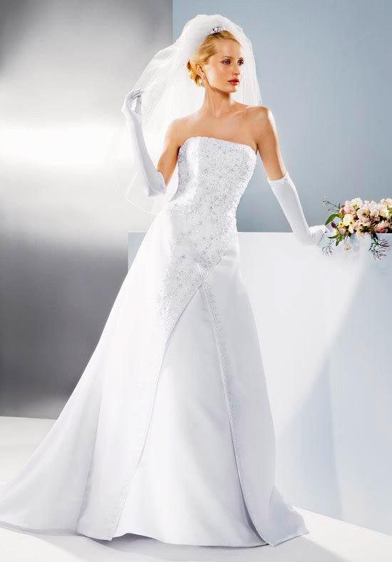 white wedding dress1 Be a Princess in White Wedding Dress