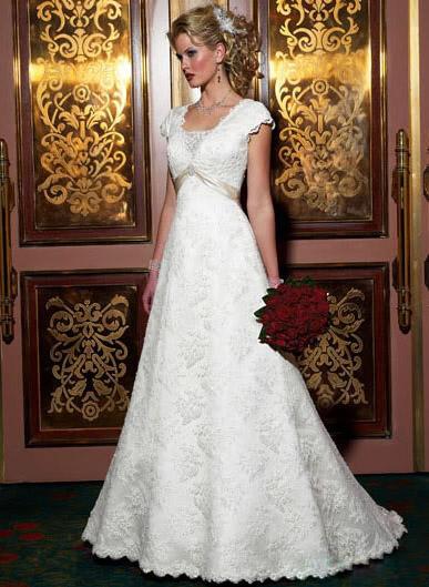 white wedding dress13 Be a Princess in White Wedding Dress