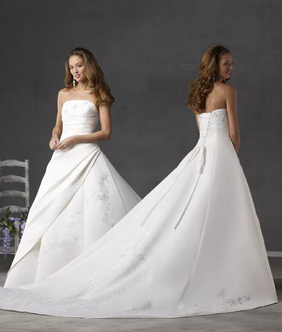 white wedding dress7 Be a Princess in White Wedding Dress