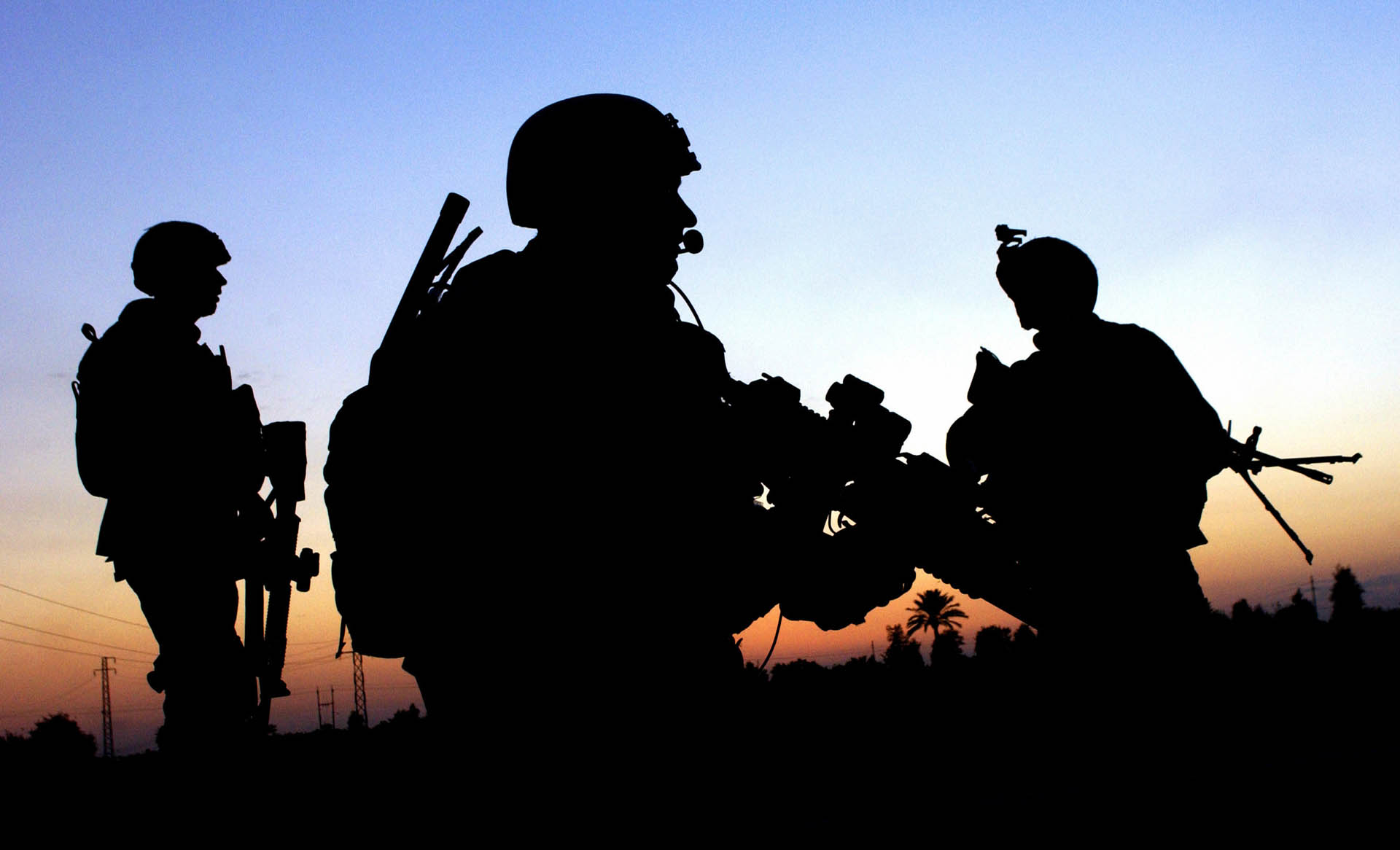 army wallpaper4 Best Army Silhouetted Wallpapers