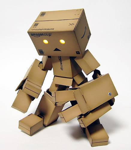 paper robot3 Funny Paper Box Robot Models